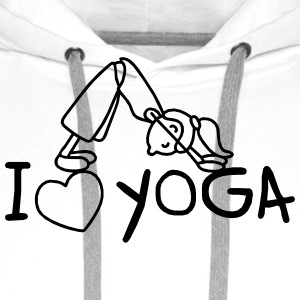 I love Yoga  Shirts - Men's Premium Hoodie
