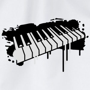 Piano keyboard in graffiti style Buttons - Drawstring Bag