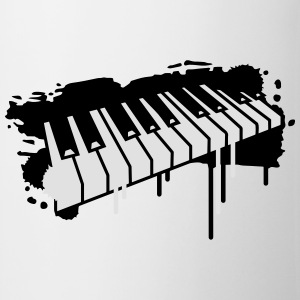Piano keyboard in graffiti style Buttons - Mug