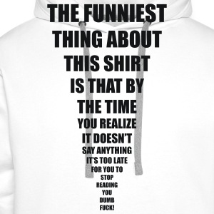 funniest thing T-shirts - Premiumluvtröja herr