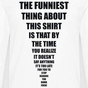 funniest thing Tee shirts - T-shirt manches longues Premium Homme