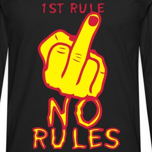 1st rule no fuck insulte doigt finger Sweat-shirts - T-shirt manches longues Premium Homme