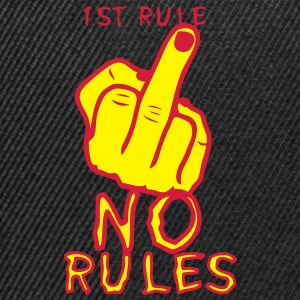 1st rule no fuck insulte doigt finger Sweat-shirts - Casquette snapback