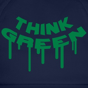 Think Green Graffiti T-shirts - Baseballcap