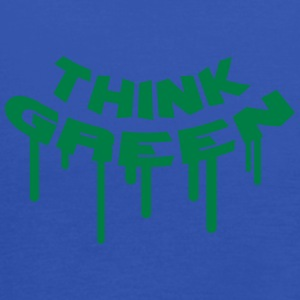 Think Green Graffiti T-Shirts - Women's Tank Top by Bella
