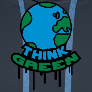 Think Green Earth T-shirts - Mannen Premium hoodie