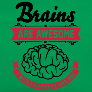 Brains are awesome - I wish everbody had one T-shirts - Retro taske
