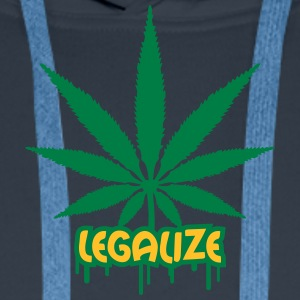 Legalize Weed Graffiti T-Shirts - Männer Premium Hoodie