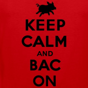Keep calm and bacon T-shirts - Mannen Premium tank top