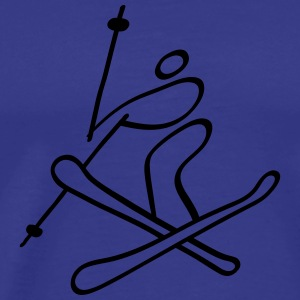 Extreme Freestyle Skiing Hoodies - Men's Premium T-Shirt