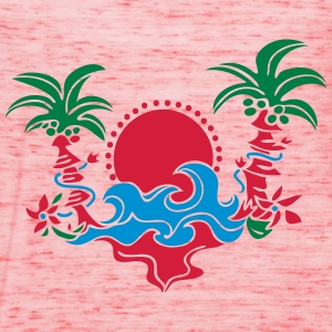 palm tree, beach, sun, sea, surf, holiday, palms   Gensere - Singlet for kvinner fra Bella