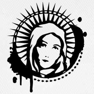 Holy Mary portrait graffiti stencil Bottles & Mugs - Baseball Cap