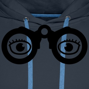 Magnifying Glass Eyes T-shirts - Herre Premium hættetrøje