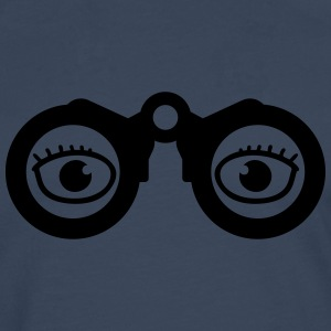 Magnifying Glass Eyes T-shirts - Herre premium T-shirt med lange ærmer