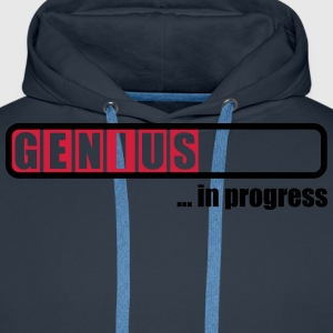 Genius in progress T-Shirts - Männer Premium Hoodie