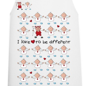 I love to be different - angel and devil Sweaters - Keukenschort