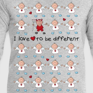 I love to be different - angel and devil T-Shirts - Men's Sweatshirt by Stanley & Stella