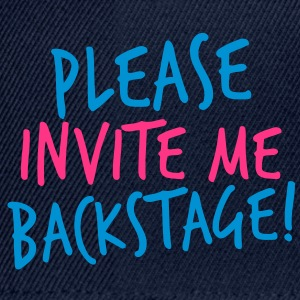 please invite me backstage! VIP CONCERT Tee Kids and Babies - Snapback Cap
