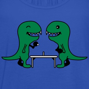 Funny Table Tennis Dinos T-Shirts - Women's Tank Top by Bella