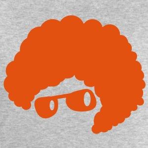 cool orange afro hair style 70's sunglasses  T-Shirts - Men's Sweatshirt by Stanley & Stella
