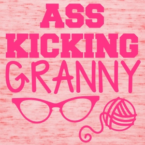 Ass kicking GRANNY with glasses and wool T-Shirts - Women's Tank Top by Bella