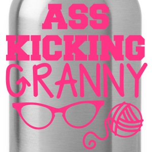 Ass kicking GRANNY with glasses and wool T-Shirts - Water Bottle