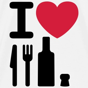 I love NY knife fork bottle cork New York Bags  - Men's Premium T-Shirt