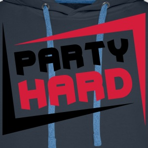 Party Hard T-skjorter - Premium hettegenser for menn