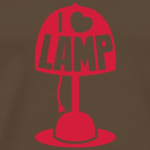 I LOVE LAMP with light and cord Bags  - Men's Premium T-Shirt