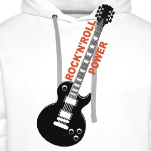rock'n'roll_ guitar 2 Long sleeve shirts - Men's Premium Hoodie
