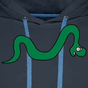Funny Snake T-shirts - Mannen Premium hoodie