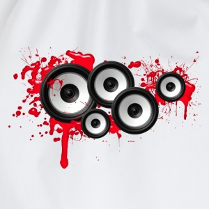 Music in the blood, speakers, sound system, audio Magliette - Sacca sportiva