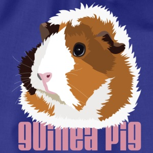 Retro Guinea Pig 'Elsie' Men's T-Shirt (text) - Drawstring Bag