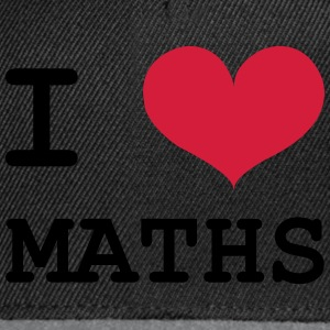 i love maths Tee shirts - Casquette snapback