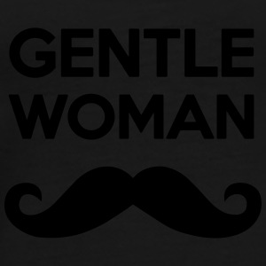 GENTLEWOMAN MOUSTACHE GENTLE WOMAN GIRL Caps & Mützen - Männer Premium T-Shirt