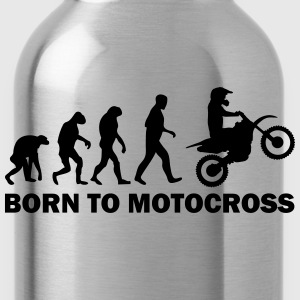 born to motocross T-Shirts - Trinkflasche