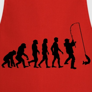 evolution man fishing (2) Magliette - Grembiule da cucina