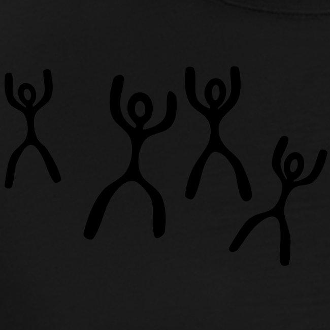 Tanzende Figuren T-Shirt weiß/schwarz