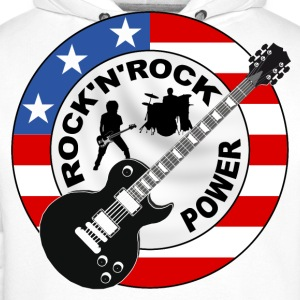 Rock 'n' Roll power Long sleeve shirts - Men's Premium Hoodie