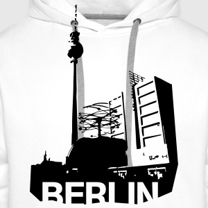Alexanderplatz in Berlin T-Shirts - Men's Premium Hoodie