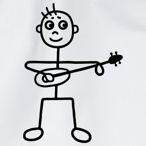 Man with Guitar - Ukulele T-Shirts - Drawstring Bag