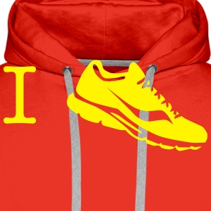 i love run sneaker Shirts - Men's Premium Hoodie