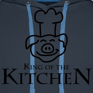 King Of The Kitchen Camisetas - Sudadera con capucha premium para hombre