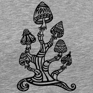 Magic mushrooms, wonderland, psychedelic, lsd T-shirts - Premium-T-shirt herr