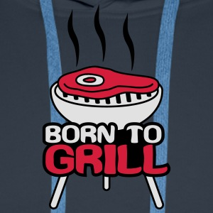 Born To Grill T-shirts - Mannen Premium hoodie
