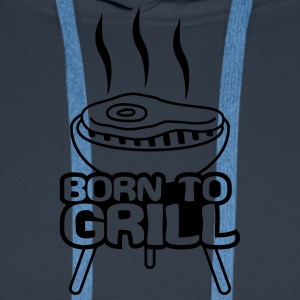 Born To Grill T-shirts - Herre Premium hættetrøje