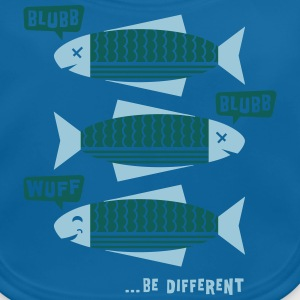 Be Different - Fische - Blubb - Be yourself - 2C T-Shirts - Baby Bio-Lätzchen