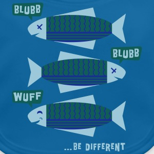 Be Different - Fische - Blubb - Be yourself - 3C T-Shirts - Baby Bio-Lätzchen