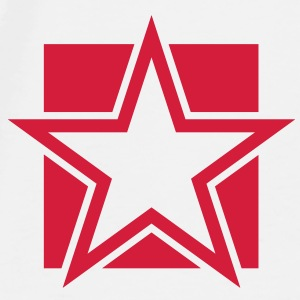 FUNKY red STAR outlined on a Square Accessories - Men's Premium T-Shirt
