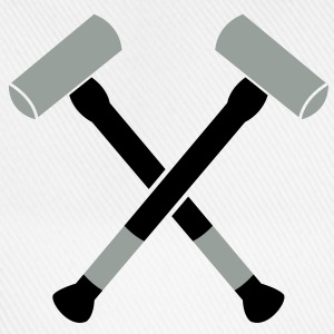 double sledgehammer hammers crossed Accessories - Baseball Cap